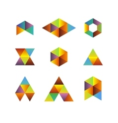 Triangle based logos vector image