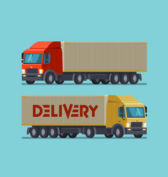 Truck lorry symbol or icon delivery shipping vector