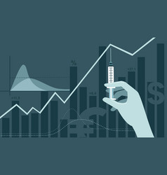 vaccine discovery impact on stock market vector image