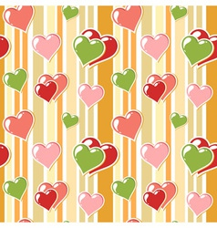 Valentine love stripped background vector image