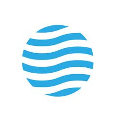 wavy logo design template blue theme abstract vector image vector image