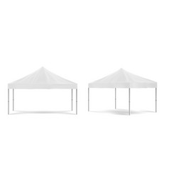 White folding promotion tent festival marquee vector