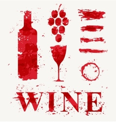 wine elements consisting a spray vector image