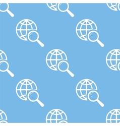 World scan seamless pattern vector image