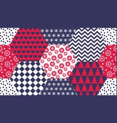 xmas naive winter symbols seamless pattern vector image