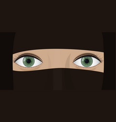 Young woman in burqa vector