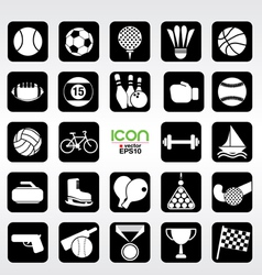 24 Sports icons set EPS10 vector image