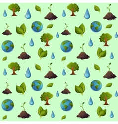 Eco pattern seamless vector image vector image