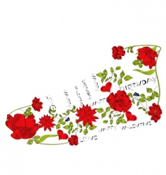 floral shoe vector image vector image