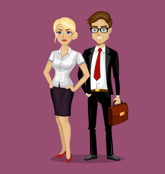man and woman in business style vector image vector image