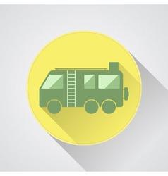 Motorhome Camper van icon Flat design vector image vector image