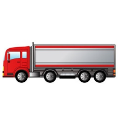 red modern truck vector image