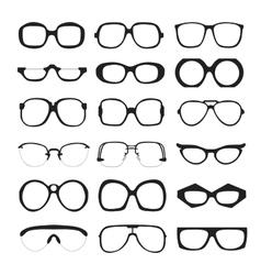 set of glasses Retro wayfarer geek vector image vector image