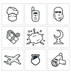 Threat to life icons vector image vector image