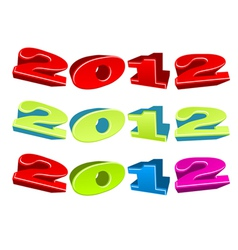 2012 3d text vector image vector image