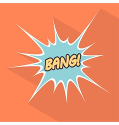 Cartoon bang Design element for the site vector image