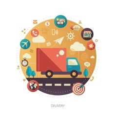 Delivery services modern flat design business vector image vector image