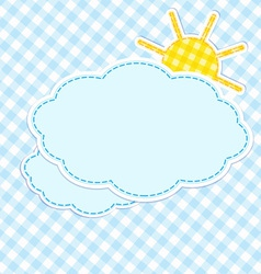 Frame with clouds and sun vector image