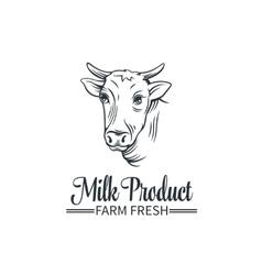 Logo milk product vector image