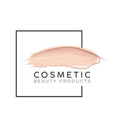 makeup design template with place for text vector image vector image