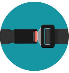 safety black belt isolated on white background vector image