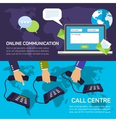 Technical support call center and service online vector image vector image