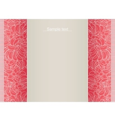 Abstract floral template for card vector image vector image