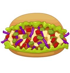 Cartoon kebab doner vector
