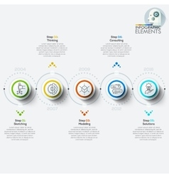 Modern business circle origami style options vector