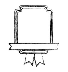 monochrome sketch with heraldic rectangle and vector image vector image