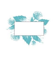 Natural Floral Frame vector image vector image