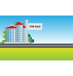 real estate sale background vector image