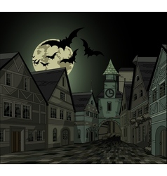 Spooky night at town vector image vector image