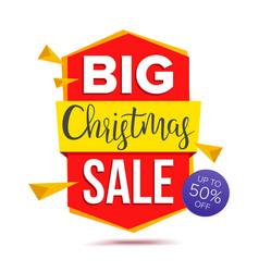 big christmas sale banner big sale offer vector image