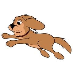 dog fluffy jumping vector image vector image