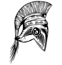 legionary helmet vector image vector image