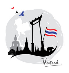 thailand place landmark travel icon cartoon vector image vector image