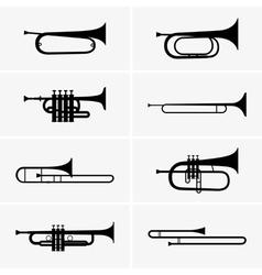 Trumpets vector image vector image