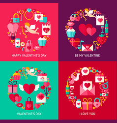 valentines day concepts set vector image vector image