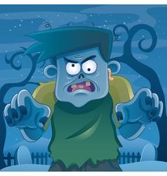 Zombie cartoon vector