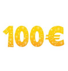 100 euro sign icon symbol vector image