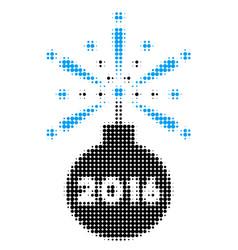 2016 fireworks detonator halftone icon vector