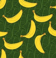 Banana hand drawn sketch Seamless Pattern vector image