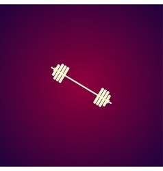 barbell icon concept for vector image