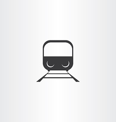 Black train icon vector