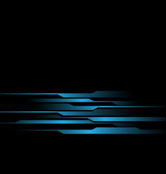blue light line futuristic on black design modern vector image