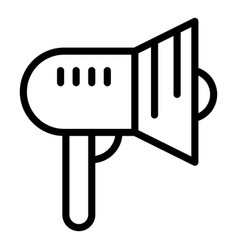 bullhorn icon outline style vector image
