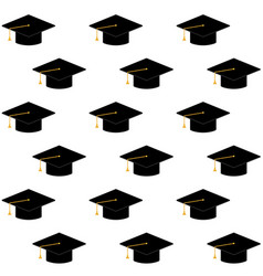 cap or hat for ceremony university graduation vector image
