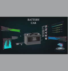 Car battery futuristic sci fi hi tech concept vector