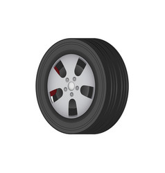 car tire of solid best quality rubber for winter vector image